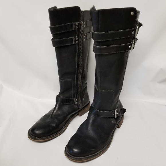 e31403ffd5a UGG Gillespie 9.5 Black Leather Motorcycle Boots